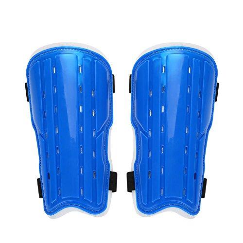 Dioche Fußball Schienbeinschutz, Erwachsene Atmungsaktiv Stoßfest Fußball Sport Schienbeinschutz Einstellbare Fußball Beinschutz Schutzausrüstung (1 Paar)(Blau)