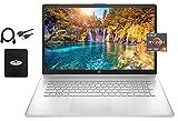 2021 Newest HP 17.3' FHD Laptop, AMD Ryzen 5 5500U 6-core(Beat i7-1160G7, up to 4.0GHz), 16GB RAM, 512GB PCIe SSD, Bluetooth 4.2, WiFi, HDMI, USB-A&C, Windows 10 S, w/Ghost Manta Accessories