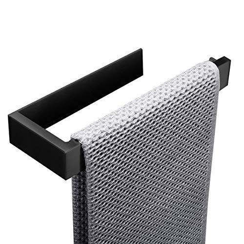 Flybath Handtuchring SUS 304 Edelstahl Mattschwarzes Finish Handtuchhalter Wandmontage Selbstklebend (Kein Bohren) Schwarz