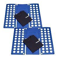 2 x Faltbrett im Set: Faltet Ihre Kleidung auf DIN A4-Größe (B x T: ca. 23 x 29,5 cm) - Schafft Ordnung und viel Platz im Kleiderschrank Zeitsparend - Zusammenlegen in Sekunden - Mit dem simplen Faltsystem wird Wäschefalten zum Vergnügen - Mehr Zeit ...