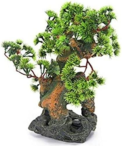 Penn-Plax Bonsai Tree on Rocks Aquarium Decor - Style 2
