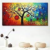 American Abstract Rich Tree Canvas Prints Painting Pictures Wall Art para Sala de Estar Decoración del hogar Cartel e Impresiones-Sin marco-50X100cm