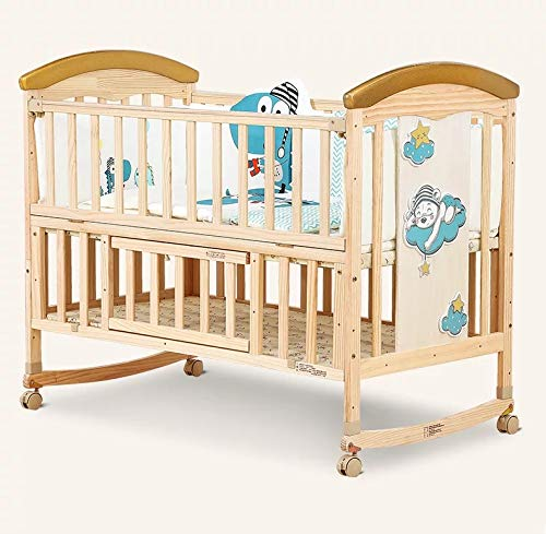 BabyTeddy 12 in 1 Multifunctional Forest Theme Crib, Cot, Bed, Rocker, Convertible Desk and Kid's Sofa with Sofa Cotton Set and Designer Mosquito Net (Princess Bed Set)