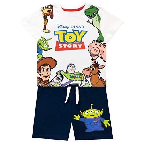 Disney Maglietta e Pantaloncini per Ragazzi Toy Story Multicolore 18-24 Mesi