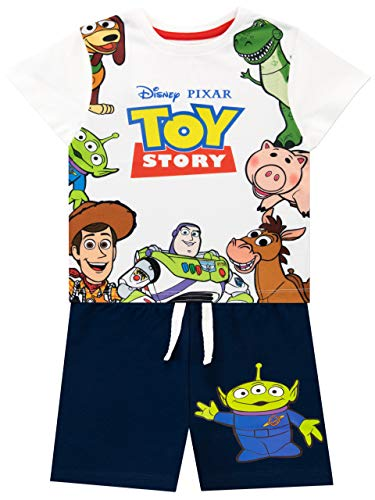 Disney Camiseta Conjunto de Top y Shorts para niños Toy Story Multicolor 7-8 Años