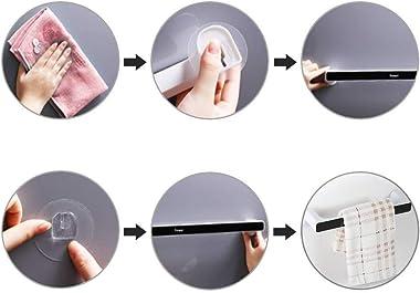 Koyet Magic Sticker Self Adhesive Plastic Wall Mounted Napkin Towel Holder Stand for Bathroom, Kitchen and Wash Basin Towel B