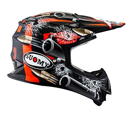 Suomy Casco Motocross MR Jump Bullet, Multicolor (Bullet Matt Black), M