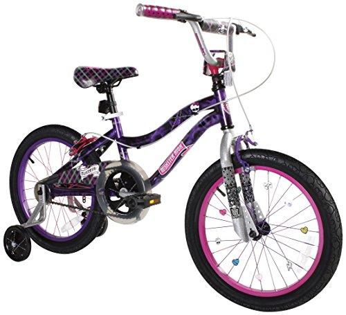 """Monster High Dynacraft Girls BMX Street/Dirt Bike 18"""", Black/Purple/Pink"""