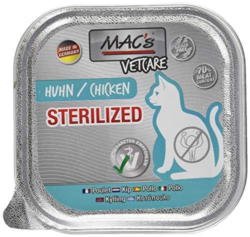Mac's kattenvoer vrij van vetcare kip sterilized 1, 100 g