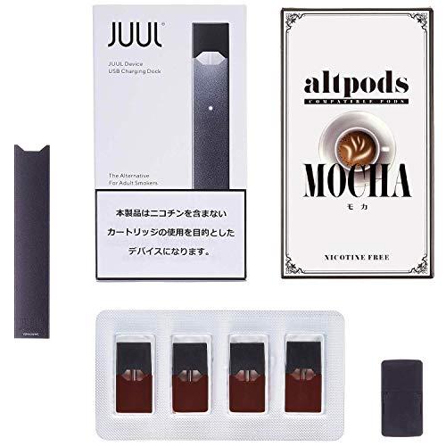 JUUL 対応 カートリッジ altpods 1箱付き Black (ブラック) / MOCHA (モカ) スターターキット 電子タバコ VAPE