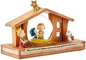 Hallmark Christmas - Peanuts Noel Nativity Snow Globe
