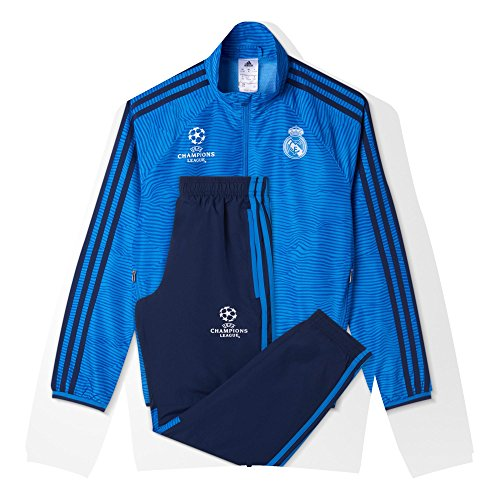adidas Real Madrid Chándal, niño, Azul Marino/Azul/Blanco, 176