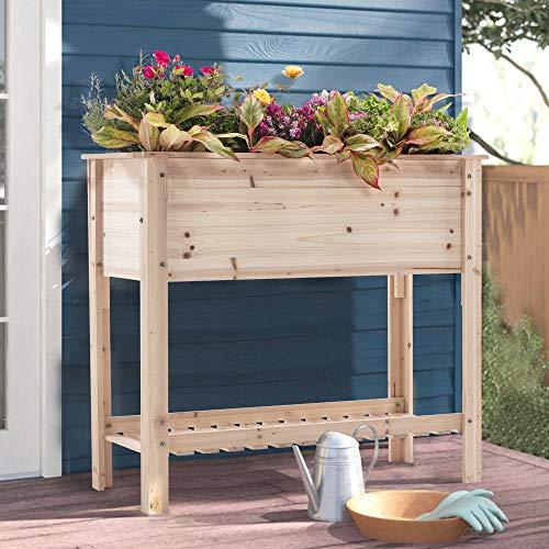 SIMFLAG Raised Garden Bed w/Large Storage Shelf Only $54.50 (Retail $119.00)