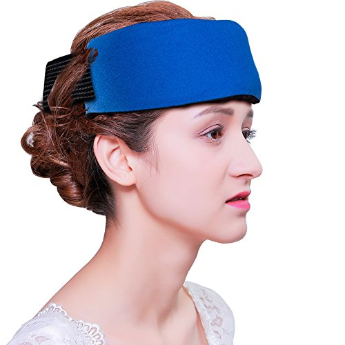 Reusable Ice Packs for Headache Migraine and Fever(2 Packs), Hot Cold Gel Pack for Injuries, Flexible Ice Pack Wrap with Soft Fabric Backing for Neck Shoulder Elbow Arm Wrist Leg Feet Knee Surgery