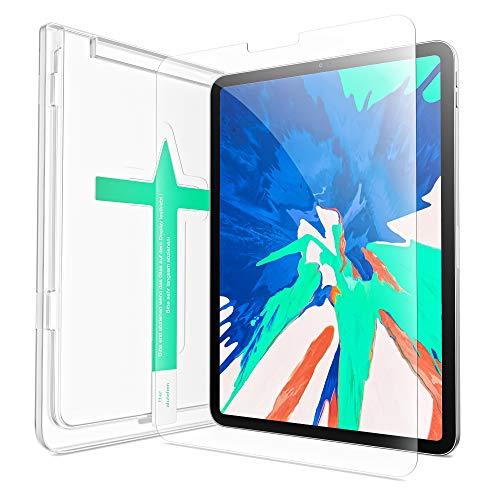 XeloTech Schutzglas für iPad Pro 12.9 Zoll (2021, 2020 und 2018) - Panzerfolie aus Echtglas - Extra Kratzfest - Mit Schablone für Positionierung