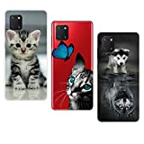 3X Coque pour Samsung Galaxy Note 10 Lite, KANTAS Etui Transparent Silicone Bumper Clear Backcover...