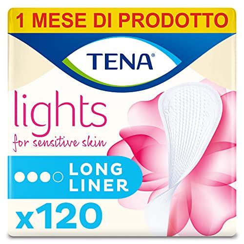Lights by TENA Long Liner, voor lichte Blaas Zwakte, Maandelijkse verpakking van 120 incontinentie voeringen voor vrouwen