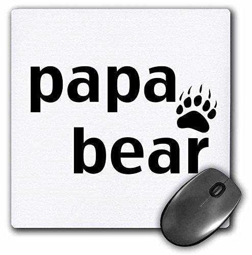 3dRose LLC 8 x 8 x 0.25 Inches Mouse Pad, Papa Bear (mp_123094_1)