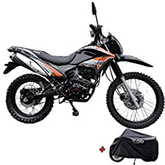 Hawk 250 Enduro dirt bike brought by Moto Pro.Free X-PRO Motorcycle Cover inside the carton. A stylish high performance exhaust pipe included on this bike is design to enhance both performance and style to the bike! Front 80/100-21 and Rear 110/100-1...