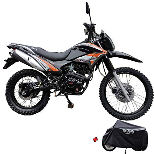 X-Pro Hawk 250 Dirt Bike Motorcycle Bike Dirt Bike Enduro Street Bike Motorcycle Bike with Motorcycle Cover,Black