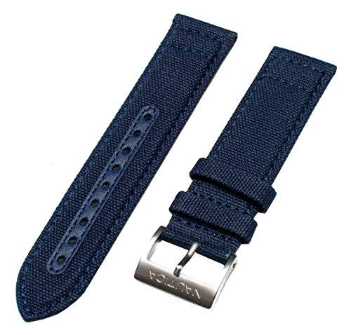 Nautica Men's N11555G | A11555G BFD 102 Blue Canvas | 22mm L