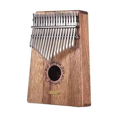 CHENTAOMAYAN 17 Keys Daumenklavier Kalimba lingting LT-K17S / LT-K17SEQ 17-Key Kalimba Daumenklavier Mbira Sanza Swartizia Spp Massivholz-Musical-Geschenk (Color : Without EQ(K17S))