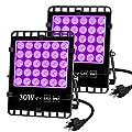 2pcs UV Blacklight Waterproof Flood Light, Outdoor UV LED Night Light, Glow in Dark Party/Club/Stage Black Light