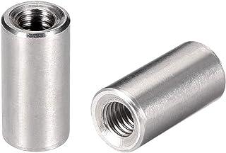uxcell ラウンドカップリングナット スリーブロッドバースタッドナット 304ステンレス鋼 高さM6x20mm 5個入り
