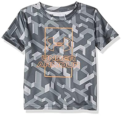 Under Armour Boys' Little Fashion SS Tee Shirt, Moderate Gray-s, 5