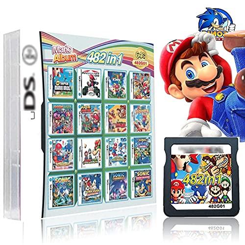UGUTER 208 en 1 Cartucho de Juego para Nintendo DS 482 en 1 Caja de Juegos, N Game Pack Card DS. Juega Compatible Combinación NDS DS 2DS .Nuevo 3DS XL. 482 en 1 Cartucho de Juego para Nintendo DS
