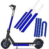 SGMY Pegatina reflectante impermeable para patinete Xiaomi Mijia, M365, E-Scooter y Ninebot Es1/Es2/Es4, accesorios para scooter eléctrico, azul