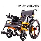 CHUDAN Comfort Sedia a rotelle elettrica semovente Light Foldable Power Free-Riding - Sedia a rotelle elettrica per i pazienti Anziani, disabili e emiplegia(4 Diversi Modelli di Batteria),A