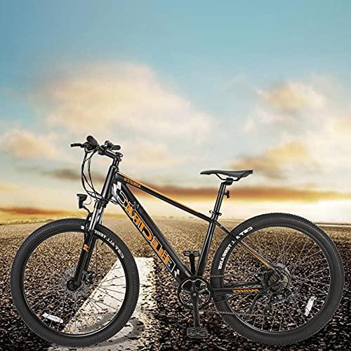 Bicicleta Eléctrica para Adultos Batería Litio 36V 10Ah Bicicleta Eléctrica con Batería de Litio de 10Ah E-Bike Shimano 7 Velocidades Hombres Mujeres con Instrumento LCD Central & Autonomía Buena