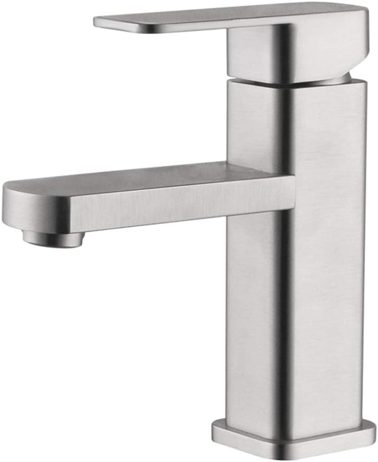 Basin Mixer Tap Bath Fixtures Wash Basinsinkkitchen All Copper Chrome Plated Basin Faucet, High-Grade Bathroom, Square Washbasin, Hot and Cold Water Mixing Tap.