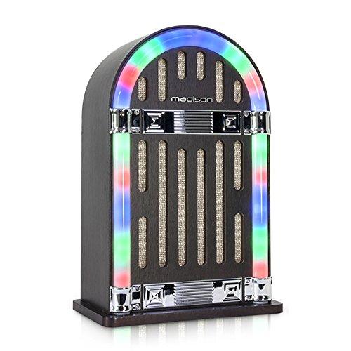 Madison Mad-Jukebox10 Vintage - Tocadiscos con Bluetooth