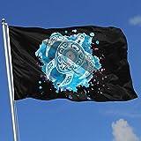 Zudrold Banderas al Aire Libre Bandera de Tortuga de Acuarela para fanático de los Deportes Fútbol Baloncesto Béisbol Hockey
