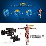 Electroestimulador Muscular Abdominales Cinturón,Masajeador Eléctrico Cinturón,Entrenador Inalámbrico Portátil de 6 Modos de Simulación,10 Niveles Diferentes para Abdomen/Cintura