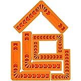 mopoin piazze di posizionamento, 6 morsetti ad angolo retto a 90 gradi righello in plastica ad angolo retto strumento di lavorazione del legno per cornici scatole armadi cassetti falegnami