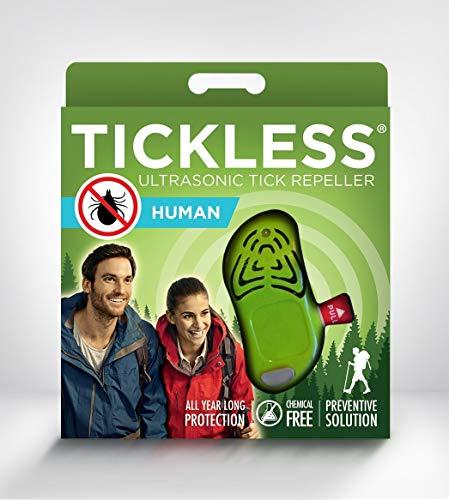 Tickless-Human - Ultraschall Zecken und Floh Abwehr für Erwachsene - Grün