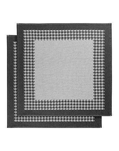 De Witte Lietaer Trapo de cocina 65 x 65 cm, algodón, blanco/negro, 2 unidades
