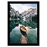 Americanflat 12x18 Black Picture Frame - Composite Wood with Shatter Resistant Glass - Horizontal and Vertical Formats for Wall with Included Hanging Hardware
