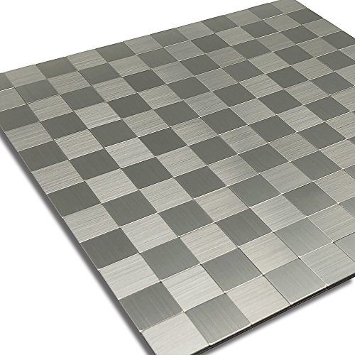royllent, Peel And Stick Tile For Kitchen, Stick On Tiles Backs plash, Alluminio Mosaic Tile For Accent Glossy Wall, Furniture Decoration,1 sq. ft, RACP-ZFX