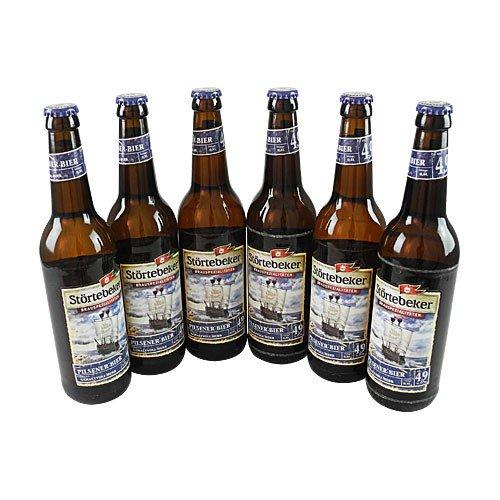Störtebeker Pilsener - norddeutsch herb (6 Flaschen à 0,5 l / 4,9% vol.) inc MEHRWEG Pfand