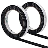 GINOYA BBQ Smoker Gasket, 9.8 Feet High Heat Grill Seal with Adhesive 1/2 Inch Wide 1/8 Inch Thick (Black)