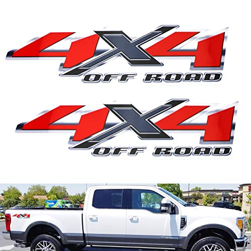 iJDMTOY (2) 12-Inch Red Letter 4x4 Off-Road Decal Stickers Set, Made...
