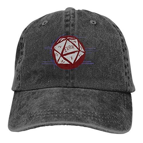 Voxpkrs Trucker Cap D20 Dice Roll Error Durable Baseball Cap Hats Adjustable Dad Hat Black Comfortable22993