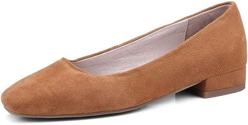 AN DGU00930 zapatos de tacón Cuadrado de Gamuza sintética para mujer