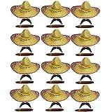 12 sombreros mexicanos, 12 bigotes...