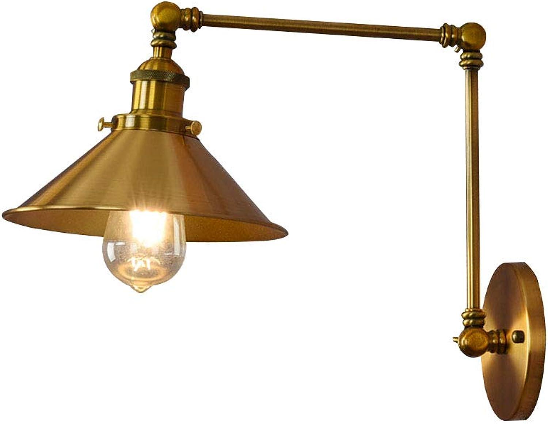 CCSUN E27 Wandleuchte, Retro Verstellbar Wandleuchten Für Bett Treppe Office Wandleuchte-Golden