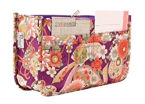 Periea - Handbag Organiser, Purple Daisy